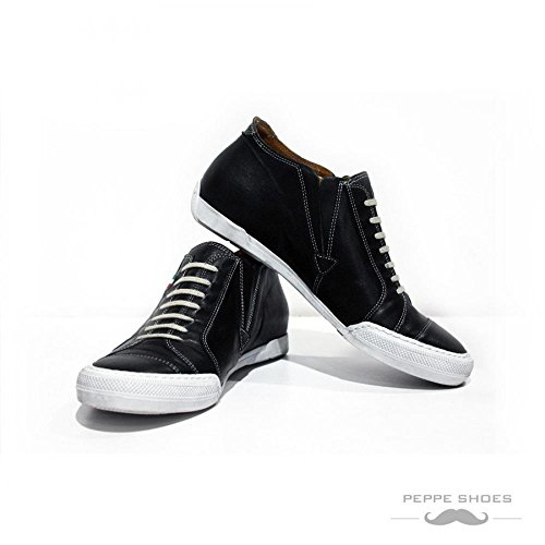 Modello Trapani - Handmade Colorful italiennes en cuir Shoes Chaussures Casual formelle haut de gamme uniques Vintage Funky lacets Baskets homme