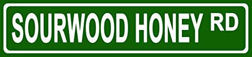 Price comparison product image Makoroni - Sourwood Honey Foods Novelty Street Sign Aluminum Metal 4x18 inc