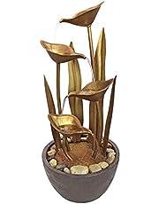 Design Toscano Copper Falls Water Fountain Garden Decor Outdoor Water Feature, 83.75 cm, Polyresin, Copper Finish