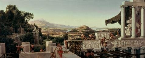 ['August Ahlborn-View Of The Flower Of Greece,1836' Oil Painting, 10x25 Inch / 25x63 Cm ,printed On Perfect Effect Canvas ,this Imitations Art DecorativePrints On Canvas Is Perfectly Suitalbe For Bar Gallery Art And Home Decoration And] (Jessica Rabbit Costumes Ideas)
