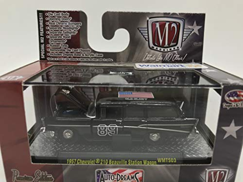 M2 Machines Auto-Dreams 1957 Chevrolet 210 Beauville Station Wagon 1/64 WMTS03 16-09 Black Details Like NO Other! Over 44 Parts