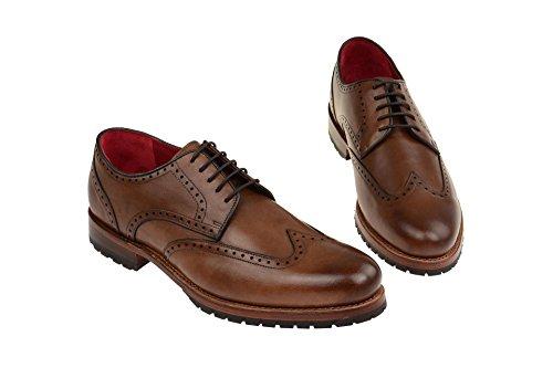 Gordon & Bros5199a Mid Brown - zapatos con cordones Hombre marrón