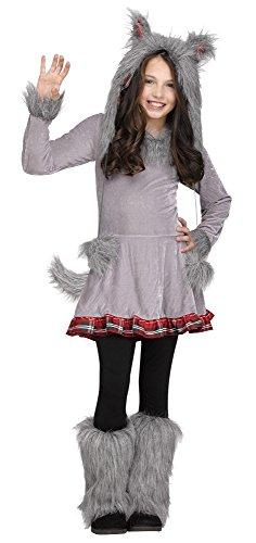 Fun World Big Girl's Girl's Wolf Cub Costume Childrens Costume, Multi, Large