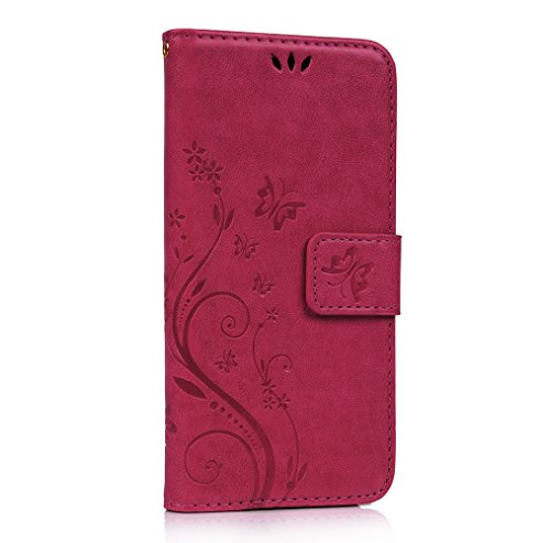 Slim Flip Cover for Samsung Galaxy S6 Edge (Hot Pink) - 2