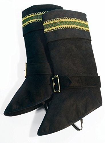 Forum Novelties Men's Deluxe Santa Boot Tops, Black, One