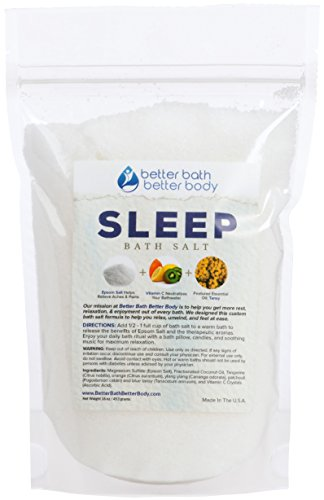 Sleep Bath Soak Epsom Salt With Tansy Essential Oils & Vitamin C - 100% All Natural No Perfumes No Dyes - Get A Better Night's Sleep Naturally