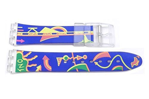 7mm Blue Watch Band with Arrow Design ()