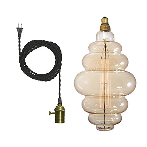 Bulbrite 810028 - 60 watt 120 volt Bee Hive Shaped Medium Screw Base 2200K Amber Dimmable (NOS60-BH/PEND/SWAG/SET)