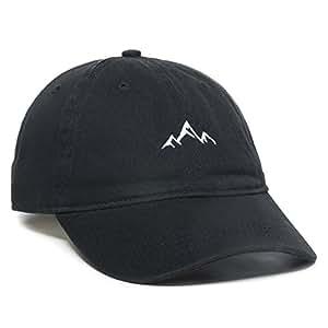 Outdoor Cap Unisex-Adult Mens Mountain dad hat - Unstructured Soft Cotton Cap AMZ4067459-P, Unisex-Adult Mens, Mountain dad hat - Unstructured Soft Cotton Cap, AMZ4067459, Black, One Size