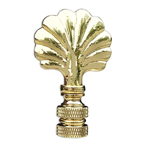Royal Designs Seashell Lamp Finial for Lamp Shade- Polished Brass