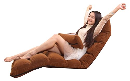 LivingComfort Comfortable Folding Sofa and Lounge Chair, Brown, C1 Sofa Brown