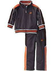 (新品)2.9折,$13.99,New Balance Brushed-Tricot Blocked新百伦橘色夹克+长裤