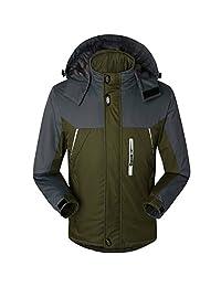 Partiss Men's Fashion Waterproof Mountain Camping Travel Ski Thicken Jacket