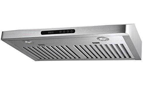 MaxAir 650 CFM 5 Inch Height Compact Under Cabinet Ultra Powerful Range Hood  MXR R08
