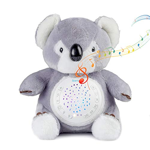 - KingRoad White Noise Sound Machine & Sleep Aid Night Light. New Baby Gift, Portable Soother Stuffed Animals Koala with 12 Baby-Soothing Sounds