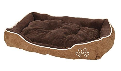 ts-ideen extra weiches Hundebett Tierbett Luxus Kissen Wendekissen Hundekorb Hundesofa Hunde-Kissen waschbar Haustier Schlafplatz Körbchen 75 x 55 cm