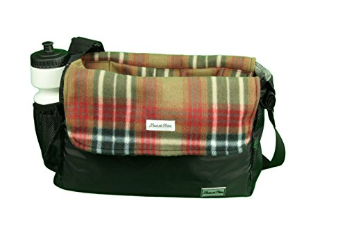 Louie de Coton Made in USA Small Dog Soft Sling Carrier Bag with Removable Fleece Blanket/Liner (Coco Plaid)