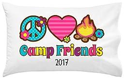 Peace Love Fire Camp Autograph Pillowcase | Autograph Summer Camp Pillowcase | Sleepaway Camp Pillow Cover