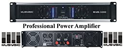MUSYSIC 2 Channel 3200 Watts DJ PAProfessional Power Amplifier 2U Rack mount SYS-3200