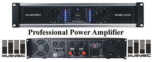 MUSYSIC 2 Channel 3200 Watts DJ PAProfessional Power Amplifier 2U Rack mount SYS-3200 ()