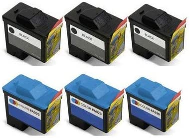 310-5508/_3PK//310-5509/_3PKMP SuppliesMAX Compatible Replacement for Dell A720//A920 Inkjet Combo Pack 3-Black//3-Color Series 1