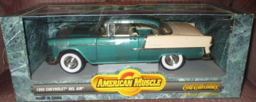 #7256 Ertl American Muscle 1955 Chevrolet Bel Air,Neptune Green 1/18 Scale Diecast by ERTL ()