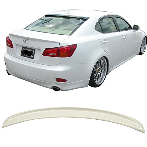 Pre-painted Trunk Spoiler Fits 2006-2013 Lexus IS250 350 IS F | ISF Sport Style ABS Painted #077 Starfire Rear Tail Lip Other Color Available By IKON MOTORSPORTS | 2007 2008 ()