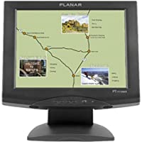 Computer Monitors-Planar 15 Black Touchscreen LCD Monitor With Integrated Speaker