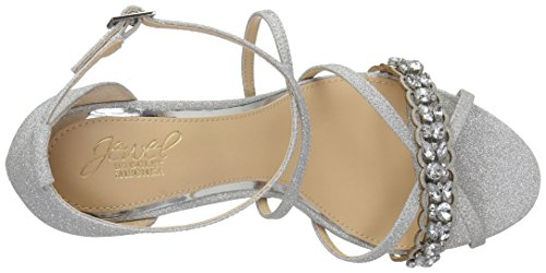 Heeled Sandal Silver Mischka Women's Gisele Badgley q1Bnv