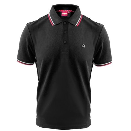 S/s Tipped Collar - MERC LONDON New Black Card Cotton Polo Shirt With Tipped Collar - Size S