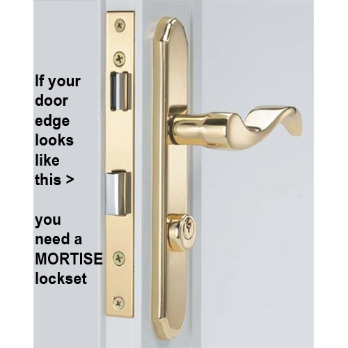 Arlington Mortise Storm Door Hardware Satin Nickel by Door Hardware N' More (Image #4)