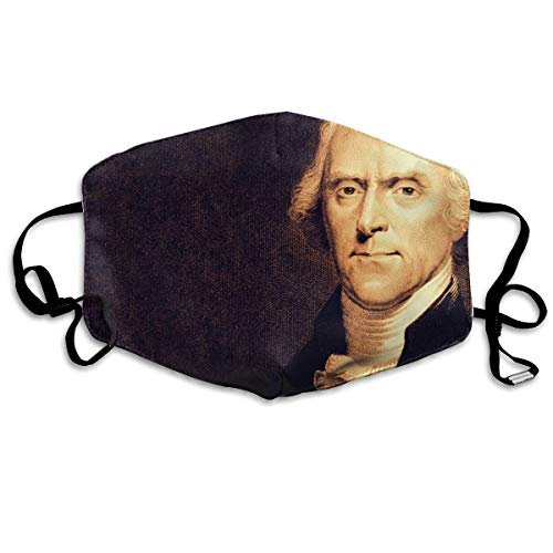 VAbBUQBWUQ Thomas Jefferson Anti Dust Half Face Mouth Cover Respirator Dustproof Anti-Bacterial Washable Reusable Comfy Germ Wind Protective Breath Windproof Mask]()