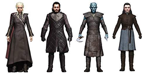McFarlane Toys Game of Thrones: Jon Snow, Daenerys, Night King and Arya Action Figure Set