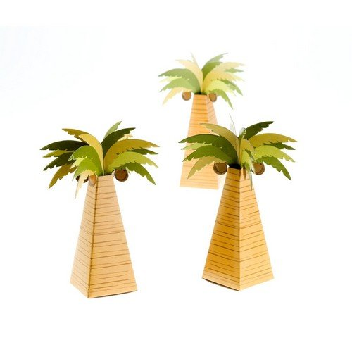 Boîte A Dragées Palmier (Lot de 10) 3522