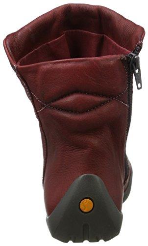 Softinos Damen Nat332sof Pelle Lavata Stiefeletten Rot (scarlatto)
