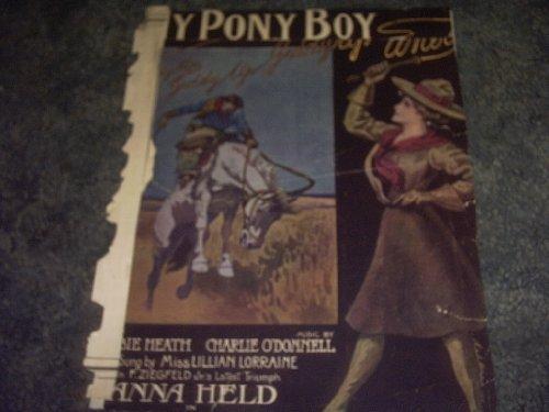 My Pony Boy Sheet Music (Boy Music Sheet Pony)