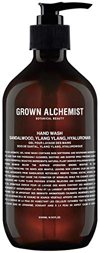 Grown Alchemist Hand Wash - Sandalwood, Ylang Ylang & Hyaluronan (500 Milliliters, 16.9 Ounces)