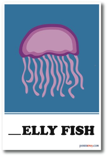 Jelly Fish Missing Letter Exercise - NEW Classroom Poster