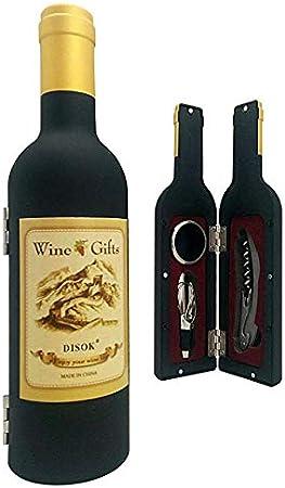Lote de 10 Set 3 Piezas en Forma de Botella de Vino en Caja de Regalo Transparente -Detalles Originales Invitados de Bodas, Regalos Comuniones y Recuerdos para Cumpleaños Infantiles