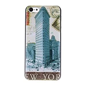 HP New York Stamps Pattern PC Hard Case for iPhone 5C