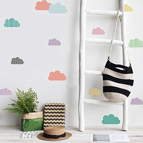Wall Stickers - 24pcs/Set Cartoon Rainbow Wall Stickers Transparent PVC Children Room Decoration Wall Decals Baby Room Decoration Supplier - by PPL21-1 PCs -
