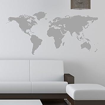 world map wall sticker kids wall sticker decals 120 grey amazoncouk kitchen home