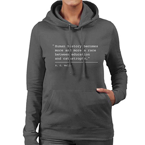 Charcoal Coto7 Women's Wells G H Between Race A Education Catastrophe Hooded And Quote Sweatshirt rqrUOv