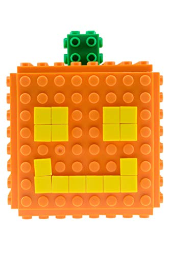 Strictly Briks DIY Mini-Cube Jack-O-Lantern - Halloween Brick Construction Toy - 79 Pieces
