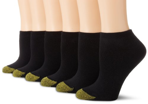 Gold Toe Women\'s 6-Pack Sport Cushion No Show Sock