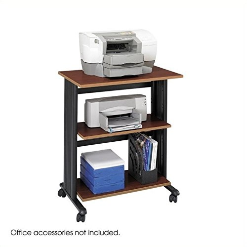 Safco Products 1881CY Muv Three Level Adjustable Shelf Printer Machine Stand, (Safco 3 Shelf)