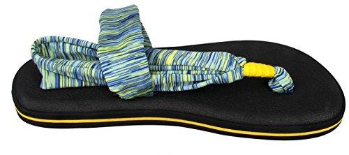 Santiro Sandalia de Mujer Con Cinta de Peso Ligero Clip de Dedo de Pie Talon Descubieto Suela Mante de Yoga Naranja