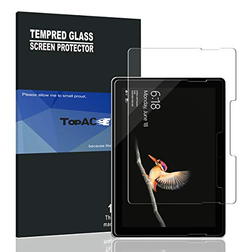 Surface Go Screen Protector, TopACE 9H Hardness [Anti-Scratch][Bubble Free] Tempered Glass Surface Go (1 Pack)