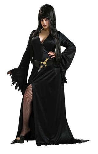 Dark Mistress Costumes (Secret Wishes Elvira Mistress of the Dark Full Figure Costume, Black)