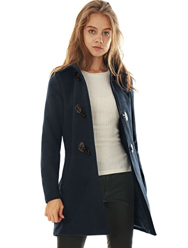 Slant Pockets Wool Coat - 1